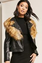 Forever21 Faux Fur & Leather Jacket