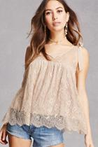 Forever21 Sheer Lace Tank Top