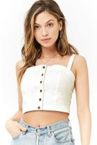 Forever21 Button-front Crop Cami