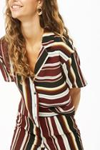Forever21 Vented Striped Shirt