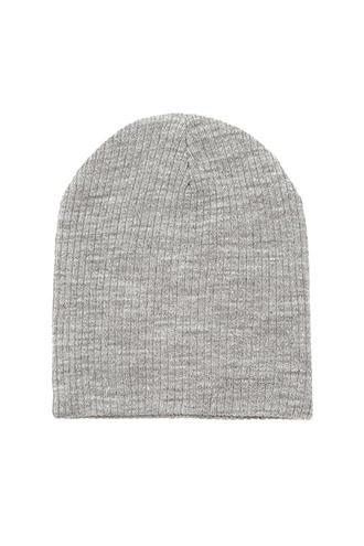Forever21 Women's  Heather Grey Ribbed Knit Beanie