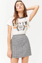 Forever21 Gingham Print Mini Skirt