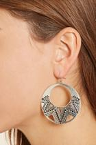 Forever21 Etched Cutout Drop Earrings