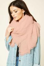 Forever21 Square-patterned Frayed Scarf
