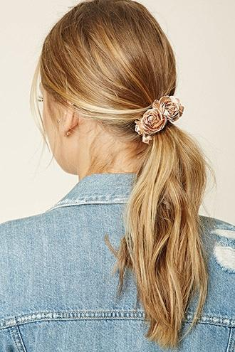 Forever21 Metallic Rose Hair Tie