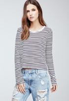Forever21 Boxy Texture-striped Tee