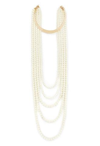 Forever21 Faux Pearl Statement Necklace