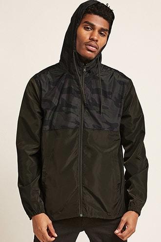 Forever21 Camo Zip-front Jacket