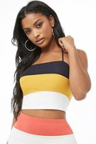 Forever21 Colorblock Cropped Cami
