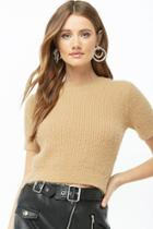 Forever21 Fuzzy Ribbed Top