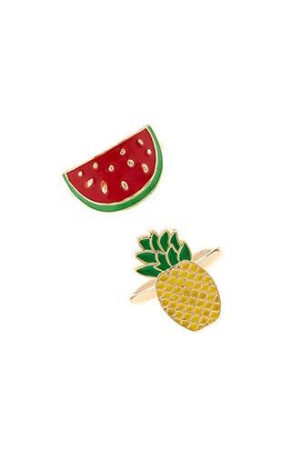 Forever21 Pineapple Ring Set