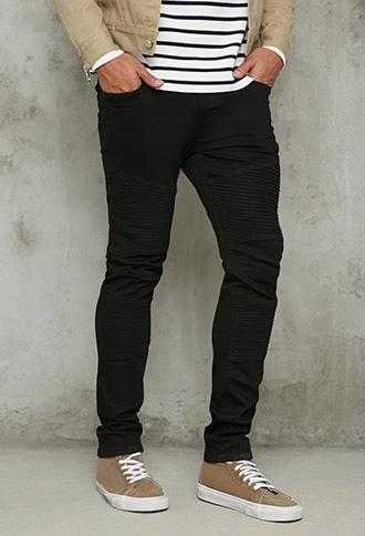Forever21 Slim-fit Moto Jeans