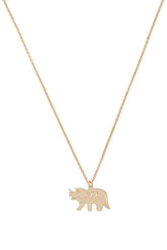 Forever21 Triceratops Pendant Necklace