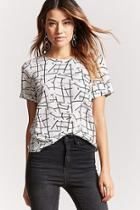 Forever21 Abstract Geo Print Top