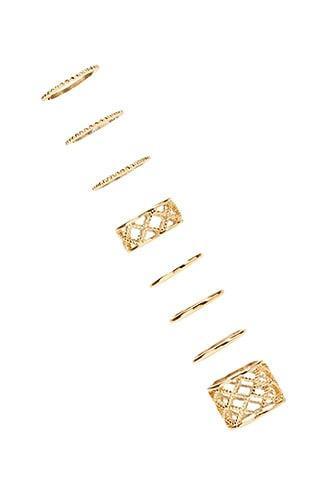 Forever21 Lattice Cutout Ring Set