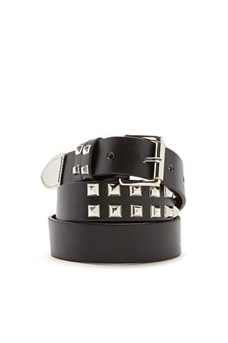 Forever21 Studded Faux Leather Hip Belt