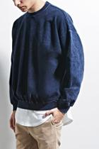 21 Men Men's  Navy & Black Eptm. Mineral Dye Sweatshirt