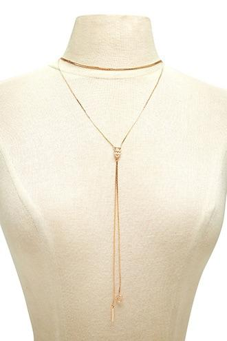 Forever21 Chevron Drop Chain Necklace