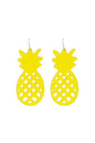 Forever21 Metal Pineapple Drop Earrings