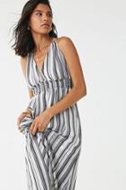 Forever21 Striped Print Maxi Dress
