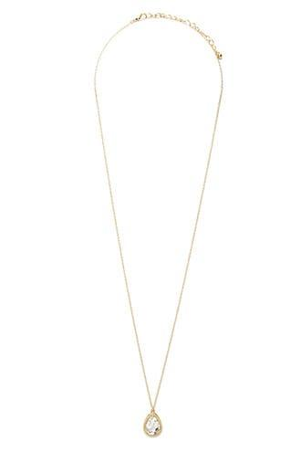 Forever21 Faux Crystal Teardrop Necklace