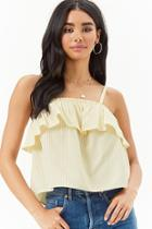 Forever21 Flounce Pinstriped Top