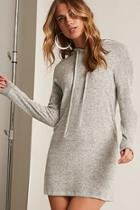 Forever21 Marled Hooded Longline Knit Top