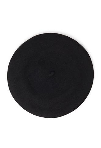 Forever21 Structured Wool-blend Beret Black One Size