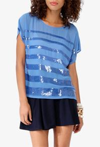 Forever21 Graduated Sequins Top