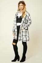 Forever21 Bellfield Plaid Belted Coat