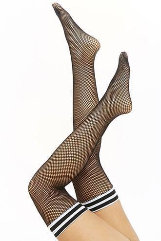 Forever21 Fishnet Thigh-high Socks