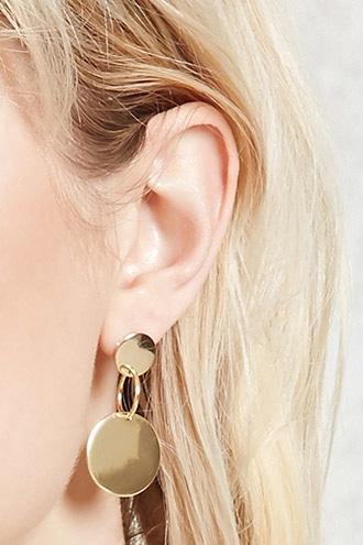 Forever21 Drop Circle Earrings