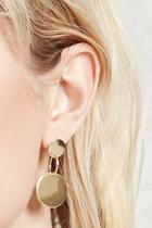 Forever21 Drop Circle Earrings