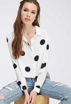Forever21 Buttoned Polka Dot Shirt