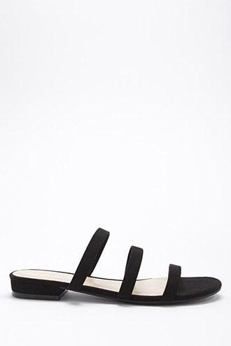 Forever21 Strappy Faux Suede Slide Sandals
