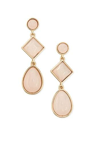 Forever21 Tiered Faux Stone Drop Earrings