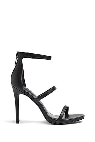 Forever21 Faux Leather Strappy Heels