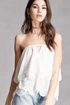 Forever21 Lush Crochet-trim Tiered Top