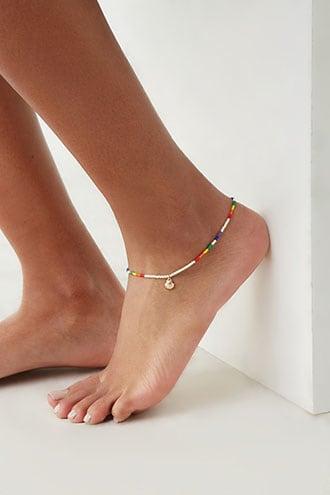 Forever21 Beaded Seashell Charm Anklet