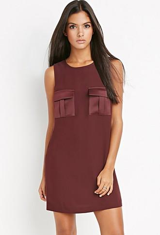Love21 Utility-pocket Shift Dress
