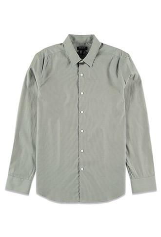 21 Men Men's  Grey Classic Cotton Shirt