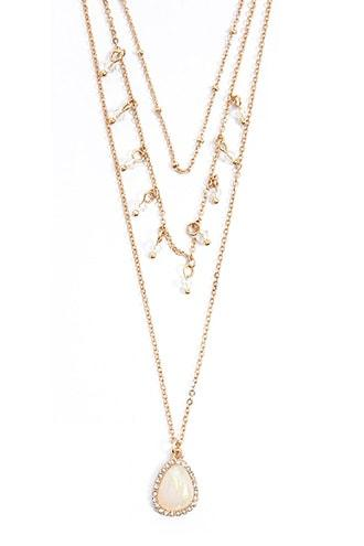 Forever21 Tiered Pendant Necklace