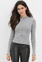 Forever21 Women's  Cropped Sweater Top