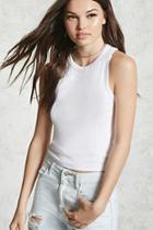Forever21 Ribbed Cropped Tank Top