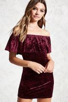 Forever21 Crushed Velvet Flounce Dress