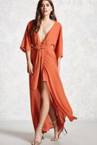 Forever21 Mock Wrap Maxi Dress