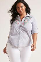 Forever21 Plus Size Embroidered Shirt