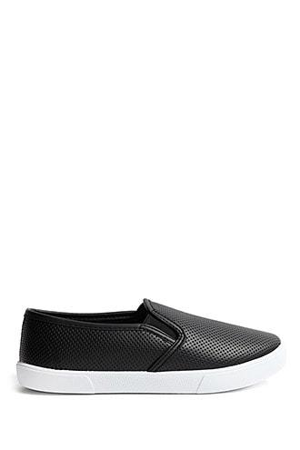 Forever21 Perforated Slip-on Sneakers