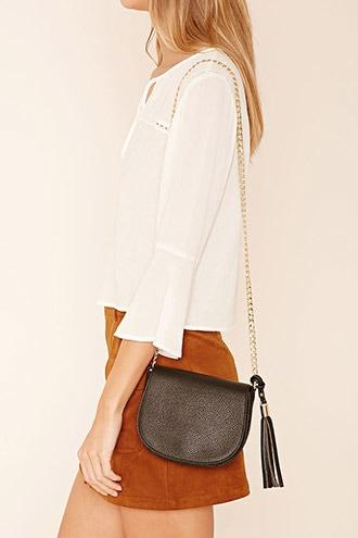 Forever21 Faux Leather Crossbody Bag