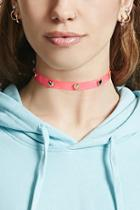 Forever21 Heart Studded Clear Choker
